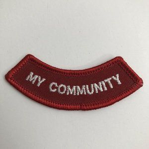 Girl Scout Patch My Community Red Patch 1990s